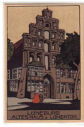alte ansichtskarten postkarten von antik falkensee l neburg steindruck altes haus. Black Bedroom Furniture Sets. Home Design Ideas