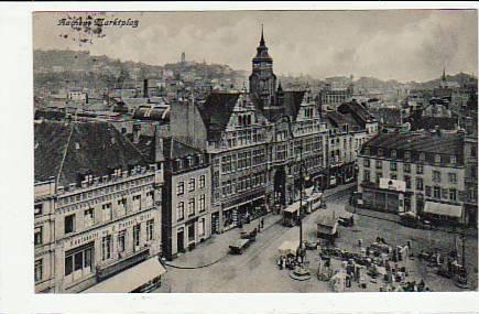 alte ansichtskarten postkarten von antik falkensee aachen markt 1924. Black Bedroom Furniture Sets. Home Design Ideas