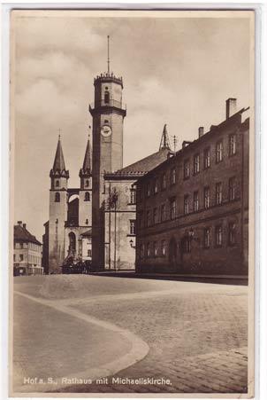 alte ansichtskarten postkarten von antik falkensee hof in bayern rathaus und kirche 1931. Black Bedroom Furniture Sets. Home Design Ideas