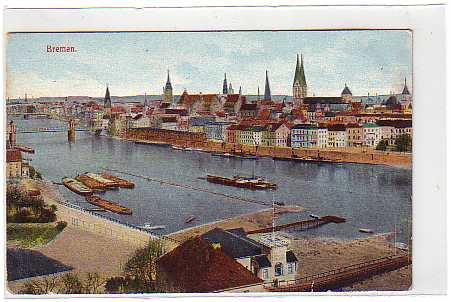 alte ansichtskarten postkarten von antik falkensee bremen bahnhof strassenbahn ca 1965. Black Bedroom Furniture Sets. Home Design Ideas