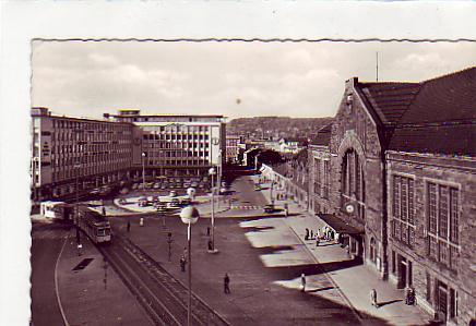 alte ansichtskarten postkarten von antik falkensee bielefeld bahnhof strassenbahn 1960. Black Bedroom Furniture Sets. Home Design Ideas