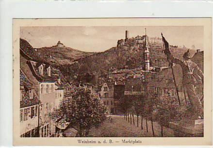 alte ansichtskarten postkarten von antik falkensee weinheim an der bergstra e 1929. Black Bedroom Furniture Sets. Home Design Ideas
