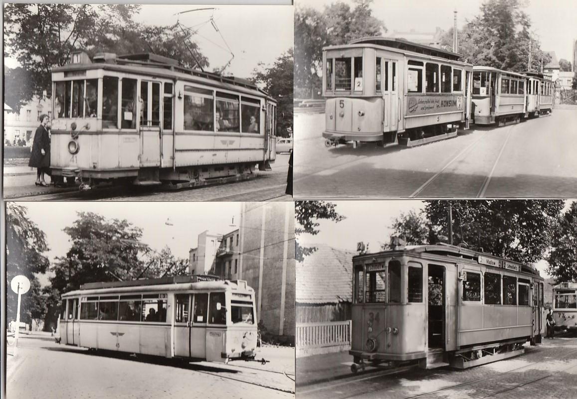 Cottbus 12x Strassenbahn und 3x Auto-Bus Anlaß 75 Jahre ...
