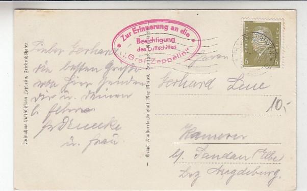 Luftfahrt & Zeppelin Postkarte Lz 127 Einbringen In Die Halle