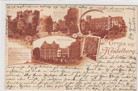 Alte Ansichtskarten Postkarten von Antik-Falkensee Heidelberg ...